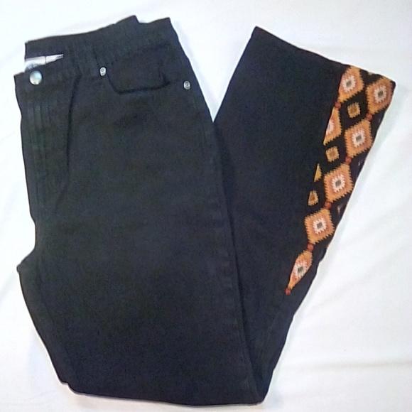Diane Gilman Denim - DG2 Diane Gilman Size 14 Black Jeans w/ embroidery
